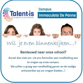 individuele rondleiding op campus Immaculata